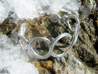 bracelet ADN en alu martelé PB6
