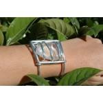 Gros bracelets avec galets de pierre naturelle
