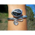 "Bracelet ""zig"" avec obsidienne nevada"
