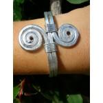 """Bracelet """"double-spirales"""" martelé"""
