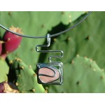 "Pendentif ""maya"" avec quartz rose"