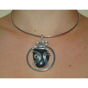"""""""Gaudi"""" pendant with big natural stone"""