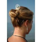 """Pic à cheveux """"planète"""" avec perle coloré"""