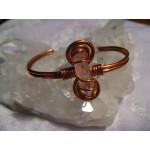 Bracelet en cuivre et cristal de roche