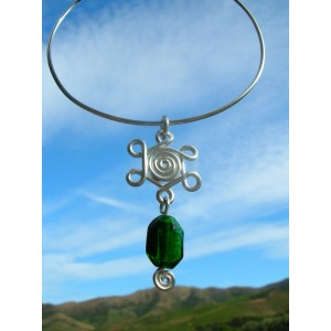 """""""Rosas Indy"""" necklace with Indian glass beads"""