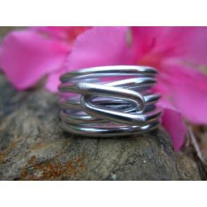 Wide unisex wire ring