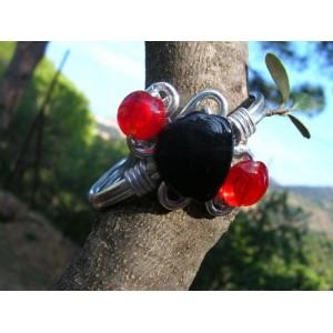 Ceramic and glass beads bracelet (bis)