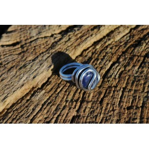 Rond ring with natural stone