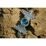 """La barrette """"Nazca"""" avec verre coloré"""