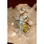 "Bague ""Quetchua"" avec petites pierres naturelles"