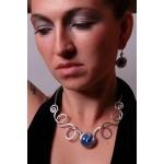 """Le collier """"Fiesta"""" avec verre coloré"""