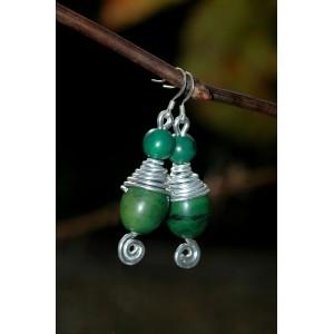 """Africana"" earrings with Amazonian seeds"