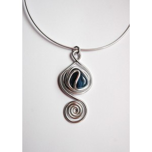 """Aladdin"" pendant with natural stone"