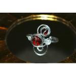"""Bracelet """"Elfique"""" avec verre coloré"""