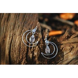 """Boucles d'oreilles """"Lune Celeste"""" avec fines pierres naturelles"""