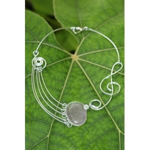 """Le collier """"SymphoniKa"""" avec galet de pierre naturelle"""