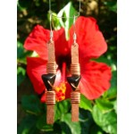 """""""Minimal"""" pound earrings with small natural stones"""