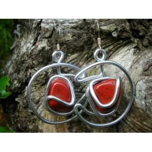 """Boucles d'oreilles """"Luna"""" avec grandes pierres naturelles"""